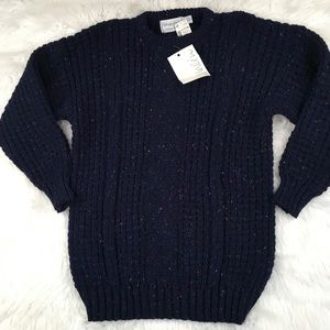 Patrick Malin Men's Sweater Blue Wool Ireland